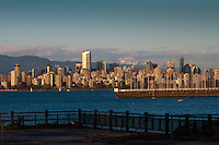 Downtown Vancouver and Jericho harbour from  Jericho beach,Vancouver,British Colombia