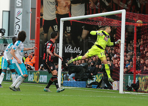 07.11.2015. Vitality Stadium, Bournemouth, England. Barclays Premier League. Fabricio Coloccini of Newcastle's header goes over the bar