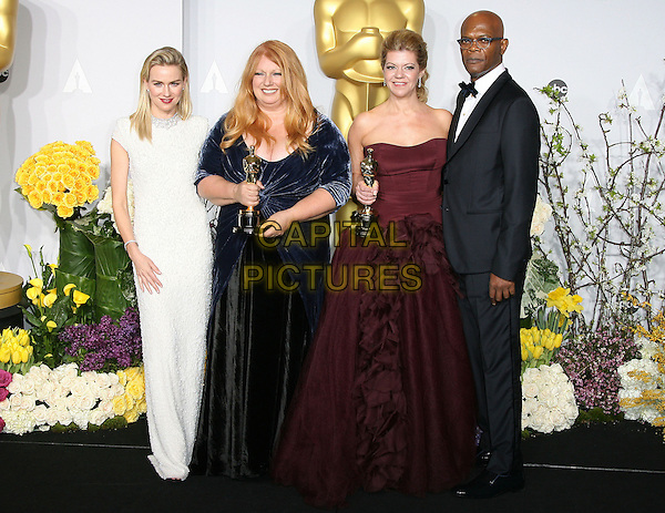 02 March 2014 - Hollywood, California - Adruitha Lee, Robin Mathews, Naomi Watts, Samuel L. Jackson. 86th Annual Academy Awards held at the Dolby Theatre at Hollywood &amp; Highland Center. <br /> CAP/ADM<br /> &copy;AdMedia/Capital Pictures