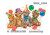 GIORDANO, CUTE ANIMALS, LUSTIGE TIERE, ANIMALITOS DIVERTIDOS, Teddies, paintings+++++,USGI1594,#AC# teddy bears