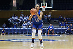 DURHAM, NC - NOVEMBER 26: Presbyterian's Tess Santos (POR). The Duke University Blue Devils hosted the Presbyterian College Blue Hose on November 26, 2017 at Cameron Indoor Stadium in Durham, NC in a Division I women's college basketball game. Duke won the game 79-45.