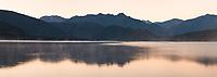 Dawn over Lake Kaniere near Hokitika, West Coast, South Westland, New Zealand, NZ