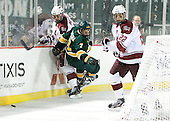 Danny Hobbs (UMass - 11), Mike Montagna (Vermont - 7), Michael Marcou (UMass - 22) - The University of Massachusetts (Amherst) Minutemen defeated the University of Vermont Catamounts 3-2 in overtime on Saturday, January 7, 2012, at Fenway Park in Boston, Massachusetts.