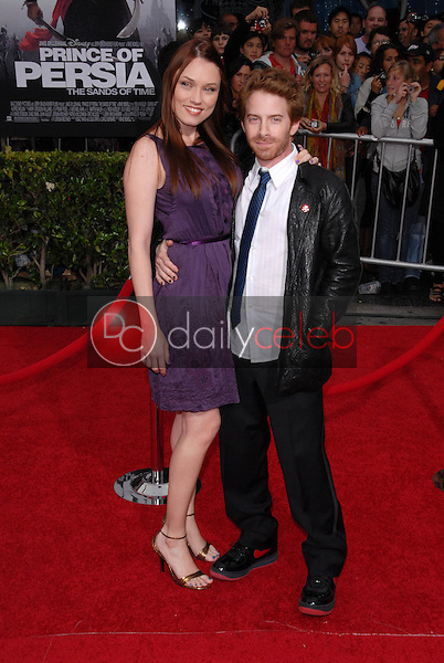 """Clare Grant and Seth Green<br /> at the """"Prince of Persia: The Sands of Time"""" Los Angeles Premiere, Chinese Theater, Hollywood, CA. 05-17-10<br /> David Edwards/Dailyceleb.com 818-249-4998"""