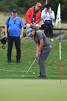 Chris Hanson (ENG) chipping onto the 5th green during Round 3 of the D+D Real Czech Masters at the Albatross Golf Resort, Prague, Czech Rep. 02/09/2017<br /> Picture: Golffile | Thos Caffrey<br /> <br /> <br /> All photo usage must carry mandatory copyright credit     (&copy; Golffile | Thos Caffrey)