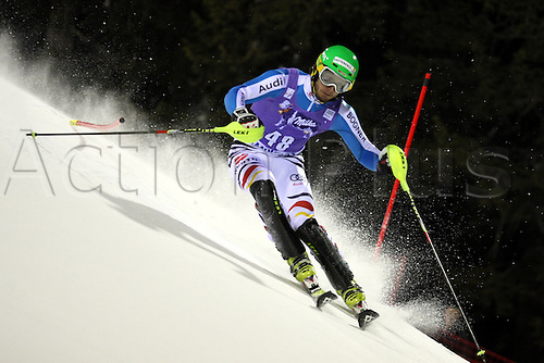 18.12.2012.  Madonna di Campiglio, Italy. Dominik Stehle (GER) in action during the FIS Alpine Men's Ski World Cup 2012/2013 Slalom in Madonna Di Campiglio, Italy