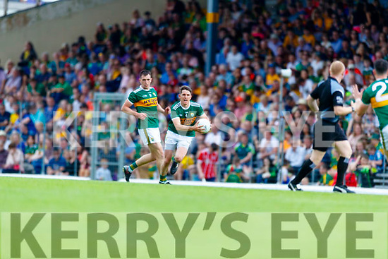 Ronan Shanahan Kerry in action against  Clare during the Munster GAA Football Senior Championship semi-final match between Kerry and Clare at Fitzgerald Stadium in Killarney on Sunday.