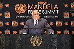 Opening Plenary Meeting of the Nelson Mandela Peace Summit<br /> <br /> His Excellency Boyko BORISSOVPrime Minister of the Republic of Bulgaria