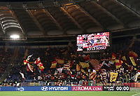 Football, Serie A: AS Roma - US Sassuolo, Olympic stadium, Rome, December 26, 2018. <br /> AS Roma's supporters wave flags before the Italian Serie A football match between Roma and Sassuolo at Rome's Olympic stadium, on December 26, 2018.<br /> UPDATE IMAGES PRESS/Isabella Bonotto