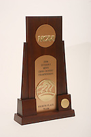 4 September 2007: A photograph of the men's NCAA national championship fourth place trophy for cross country.