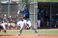 Milwaukee Brewers shortstop Korry Howell (40) at bat during an Instructional League game against the San Diego Padres at Peoria Sports Complex on September 21, 2018 in Peoria, Arizona. (Zachary Lucy/Four Seam Images)