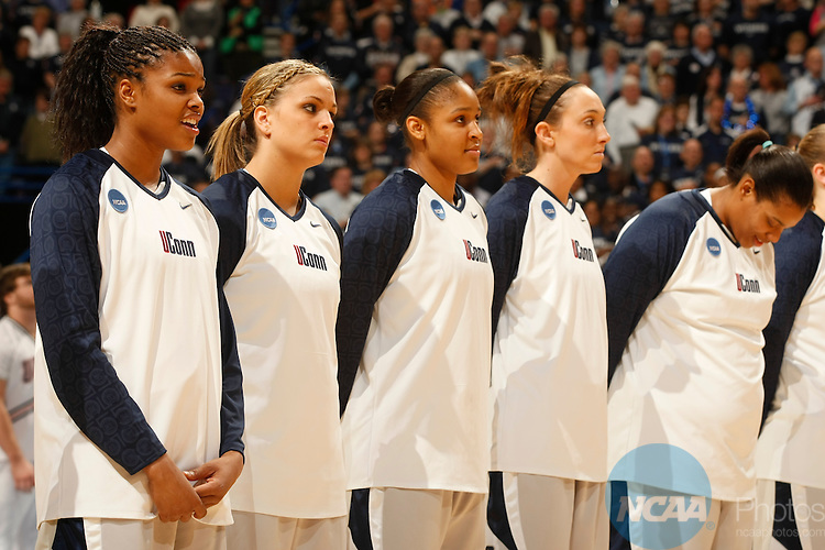 07 APR 2009:  The University of Connecticut takes on the University of Louisville during the Division I Women's Basketball Championship held at the Scottrade Center in St. Louis, MO.  UConn defeated Louisville 76-54 for the national title.  Jamie Schwaberow/NCAA Photos