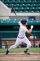Detroit Tigers Ulrich Bojarski (30) follows through on a swing during a Florida Instructional League game against the Pittsburgh Pirates on October 6, 2018 at Joker Marchant Stadium in Lakeland, Florida.  (Mike Janes/Four Seam Images)
