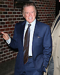 "New York, Jan. 12, 2012: Television personality Regis Philbin visits ""Late Show with David Letterman"" at Ed Sullivan Theatre on January 12, 2012 in New York City"