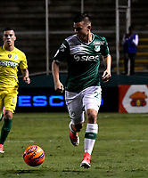 CALI - COLOMBIA – 14 - 06 - 2017: Nicolas Benedetti, jugador de Deportivo Cali, durante partido de ida de la final entre Deportivo Cali y Atletico Nacional, por la Liga Aguila I-2017, jugado en el estadio Deportivo Cali (Palmaseca) de la ciudad de Cali. / Nicolas Benedetti, player of Deportivo Cali, during a match of the first leg of the finals between Deportivo Cali and Atletico Nacional, for the Liga Aguila I-2017 at the Deportivo Cali (Palmaseca) stadium in Cali city. Photo: VizzorImage  / Luis Ramirez / Staff.