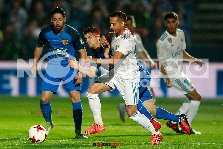 CF Fuenlabrada's Fran Garcia (l) and Real Madrid's Lucas Vazquez during Spanish Kings Cup 1/16 Final 1st leg match. October 26,2017. (ALTERPHOTOS/Acero) /nortePhoto.com