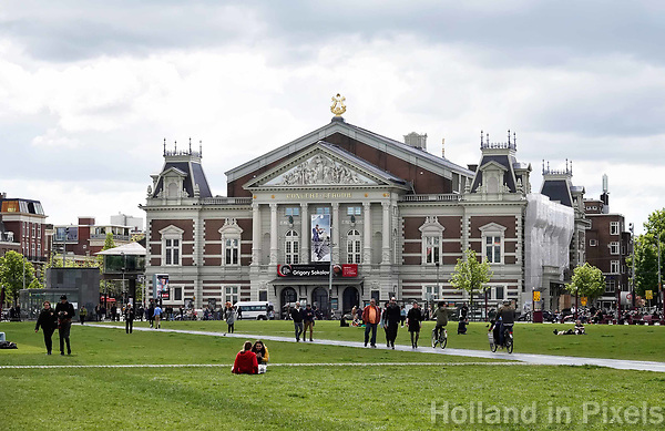 Nederland - Amsterdam - 2019. Het Concertgebouw tegenover het Museumplein. Foto Berlinda van Dam / Hollandse Hoogte