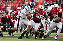 05 November 2011: Kain Colter #2 of the Northwestern Wildcats in for Dan Persa #7  in the second quarter with Eric Martin #46 of the Nebraska Cornhuskers at Memorial Stadium in Lincoln, Nebraska.  Northwestern defeated Nebraska 28 to 25.