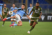 Patric Gil of SS Lazio and Joao Pedro of Cagliari compete for the ball during the Serie A football match between SS Lazio and Cagliari Calcio at Olimpico stadium in Rome ( Italy ), July 23th, 2020. Play resumes behind closed doors following the outbreak of the coronavirus disease. Photo Andrea Staccioli / Insidefoto
