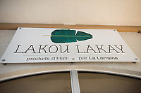 Haiti, Port-au-Prince. Lakou Lakay, store that sells products made by and supporting local artisans, mostly women.