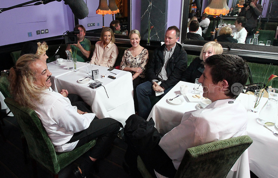 21/06/'11 Contestants, Michael Hayes, Wagner and Mary Burke are interviewed for  TV3's Celebrity Head Chef series pictured in his  'Dining Room' Restaurant...NO REPRODUCTION FEE PIC...Picture Colin Keegan, Collins, Dublin.