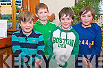 Luke Bishop, Conor Hayes, Eoin Cahill and Sean Cahill, Oakpark/St Brendans,  at the county final of the Community Games quiz held in Darby O'Gills hotel, Killarney, on Friday night.........