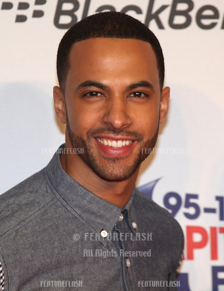 Marvin Humes from JLS arriving for the Capital Radio Jingle Bell Ball, O2 Arena, London. 08/12/2012 Picture by: Alexandra Glen / Featureflash