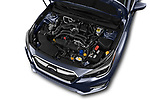 Car stock 2018 Subaru Legacy Premium 4 Door Sedan engine high angle detail view