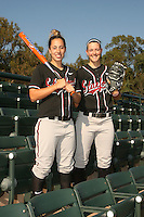 1 November 2007: Maddy Coon and Missy Penna on picture day at Boyd and Jill Smith Family Stadium in Stanford, CA.