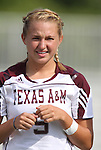 09 September 2011: Texas A&M's Lyndsey Gnatzig. The Duke University Blue Devils defeated the Texas A&M Aggies 7-2 at Koskinen Stadium in Durham, North Carolina in an NCAA Division I Women's Soccer game.