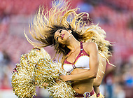 Landover, MD - August 16, 2018: Washington Redskins cheerleader performs during preseason game between the New York Jets and Washington Redskins at FedEx Field in Landover, MD. (Photo by Phillip Peters/Media Images International)