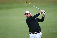 A shot at the title for Shane Lowry (IRL) down the last during the Final Round of the British Masters 2015 supported by SkySports played on the Marquess Course at Woburn Golf Club, Little Brickhill, Milton Keynes, England.  11/10/2015. Picture: Golffile | David Lloyd<br /> <br /> All photos usage must carry mandatory copyright credit (&copy; Golffile | David Lloyd)