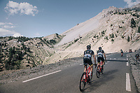 Sylvain Chavanel (FRA/Direct Energie) & Thomas Voeckler (FRA/Direct Energie) up the Col d'Izoard (HC/2360m/14.1km/7.3%)<br /> <br /> 104th Tour de France 2017<br /> Stage 18 - Briancon › Izoard (178km)