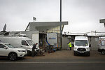 Television broadcast vans parked outside the Paisley2021 Stadium, pictured before Scottish Championship side St Mirren played Welsh champions The New Saints in the semi-final of the Scottish Challenge Cup for the right to meet Dundee United in the final. The competition was expanded for the 2016-17 season to include four clubs from Wales and Northern Ireland as well as Scottish Premier under-20 teams. Despite trailing at half-time, St Mirren won the match 4-1 watched by a crowd of 2044, including 75 away fans.