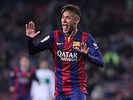 08.01.2014 Barcelona, Spain. Spanish Cup. Picture show Neymar Jr in action during game between FC Barcelona against Elche at Camp Nou