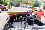 WOODBURY, CT. 16 July 2019-071619 -  The interior of a  1912 Stanley Steamer, the largest passenger car built at that time, at the Hotchkissville Firehouse off route 47 in Woodbury on Tuesday. A large group of owners of Stanley Steamers from around the country have gathered driving around the area touring the Litchfield Hills. Bill Shettle Republican-American