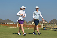 Brittany Altomare (USA) and Alena Sharp (CAN) make their way down 2 during the round 3 of the Volunteers of America Texas Classic, the Old American Golf Club, The Colony, Texas, USA. 10/5/2019.<br /> Picture: Golffile   Ken Murray<br /> <br /> <br /> All photo usage must carry mandatory copyright credit (© Golffile   Ken Murray)