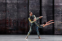 London, UK. 07.11.2019. Rambert presents RAMBERT EVENT, by Merce Cunningham, at Sadler's Wells. Choreography by Merce Cunningham, staging by Jeannie Steele, Music by Philip Selway, Quinta and Adem Ilhan, designs inspired by Gerhard Richter's 'Cage' series, performed by Rambert. The dancers are: Guillaume Queau, Brenda Lee Grech. Photograph © Jane Hobson.