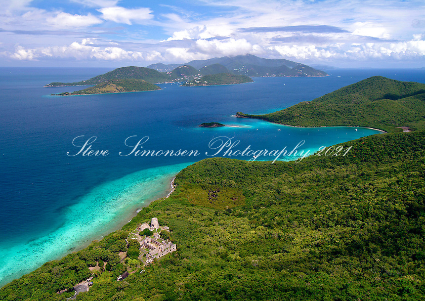 Annaberg and Beyond.Aerial North  Shore.St John