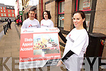 Staff of the Tralee Credit union launching the Ebola Appeal Account from left: Adam Twomey, Karen Delaney and Karen Synnott.