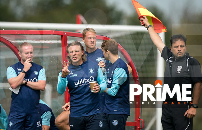 Wycombe Wanderers Manager Gareth Ainsworth during the behind closed doors friendly between Brentford B and Wycombe Wanderers at Brentford Football Club Training Ground & Academy, 100 Jersey Road, TW5 0TP, United Kingdom on 3 September 2019. Photo by Andy Rowland.