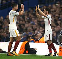 Kevin Strootman e Alessandro Florenzi<br /> Londra 18-10-2017 Stamford Bridge Football Champions League 2017/2018 Chelsea - Roma <br /> Foto Gino Mancini / Insidefoto