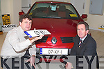 Des Adams and Mike Geoghegan, joint Managing Directors of Adams in Mileheight, with the first Kerry car of 2007, a Megane Cabrio.