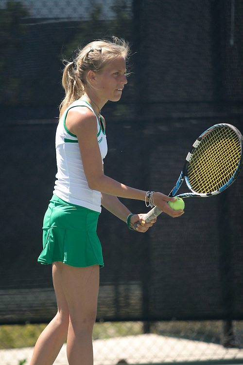 SAN DIEGO, CA - APRIL 19:  Cecelia Gratian of the USF Dons during day three of the West Coast Conference Tennis Championships on April 19, 2009 at the Barnes Tennis Center in San Diego, California.