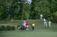 Andy Sullivan (ENG) in the yellow shirt leads the pack down 2  during round 1 of the Shell Houston Open, Golf Club of Houston, Houston, Texas, USA. 3/30/2017.<br /> Picture: Golffile | Ken Murray<br /> <br /> <br /> All photo usage must carry mandatory copyright credit (&copy; Golffile | Ken Murray)