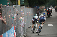 race leaders Iljo Keisse (BEL/Etixx-QuickStep) & Luke Durbridge (AUS/Orica-GreenEDGE) enter the last lap with a comfortable leap; will they be able to hold it until the finish and sprint for the lead among them?<br /> <br /> Giro d'Italia 2015<br /> final stage 21: Torino - Milano (178km)