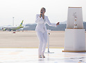 Insooni, Nov 1, 2017 : South Korean singer Insooni performs as the Olympic flame from Greece is seen upon its arrival at the Incheon International Airport in Incheon, west of Seoul, South Korea. The Olympic flame arrived in Incheon, South Korea on Wednesday and it is going to be passed across the country during a 100-day tour until the opening ceremony of the 2018 PyeongChang Winter Olympics which will be held for 17 days from February 9 - 25, 2018. (Photo by Lee Jae-Won/AFLO) (SOUTH KOREA)