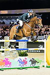 Jamie Kermond of Australia riding Yandoo Oaks Constellation competes in the Hong Kong Jockey Club Trophy during the Longines Masters of Hong Kong at the Asia World Expo on 09 February 2018, in Hong Kong, Hong Kong. Photo by Ian Walton / Power Sport Images