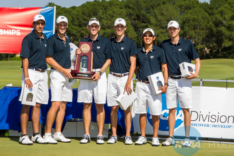 17 MAY 2013:  Emory University with their 4th place trophy in the Division III Men's Golf Championship held at the Sandestin Golf and Beach Resort Raven Course in Destin, FL.   Mark Wallheiser/NCAA Photos