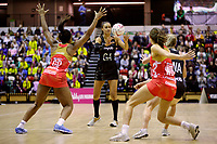 20.01.2018 Maria Folau (nee Tutaia) of Silver Ferns during the Netball Quad Series netball match between England Roses and Silver Ferns at the Copper Box Arena in London. Mandatory Photo Credit: ©Ben Queenborough/Michael Bradley Photography